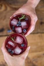 Blueberry Shrub Cocktail