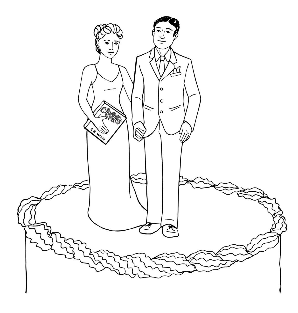 Cake topper, wedding in Maine