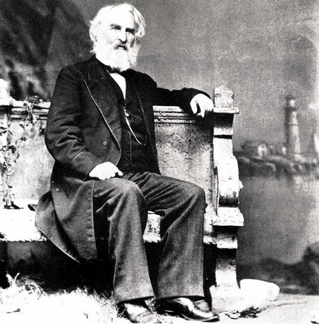 Longfellow favored this Lamson portrait, with Portland Head in background