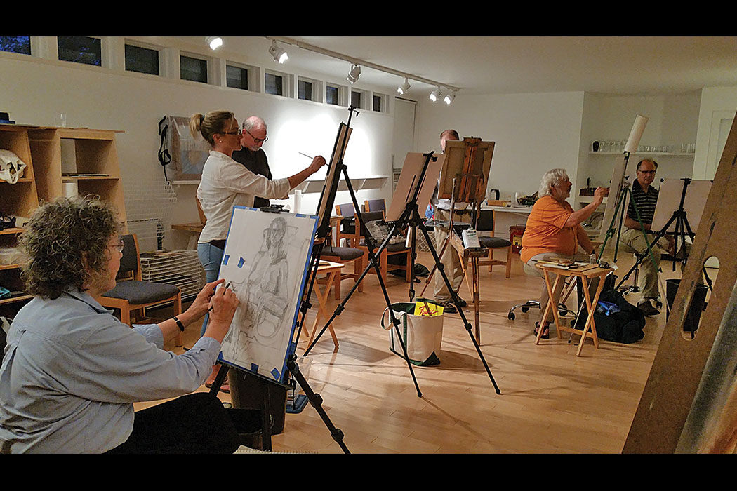 a figure drawing class at Bar Harbor's ArtWaves