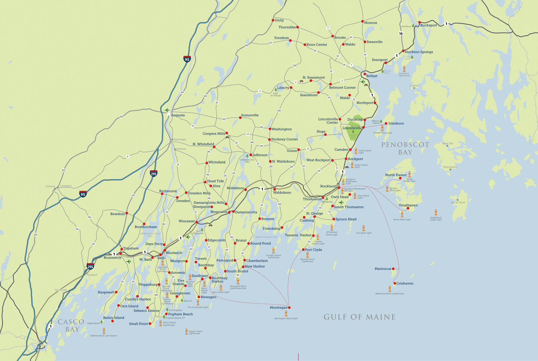 Midcoast Maine Map