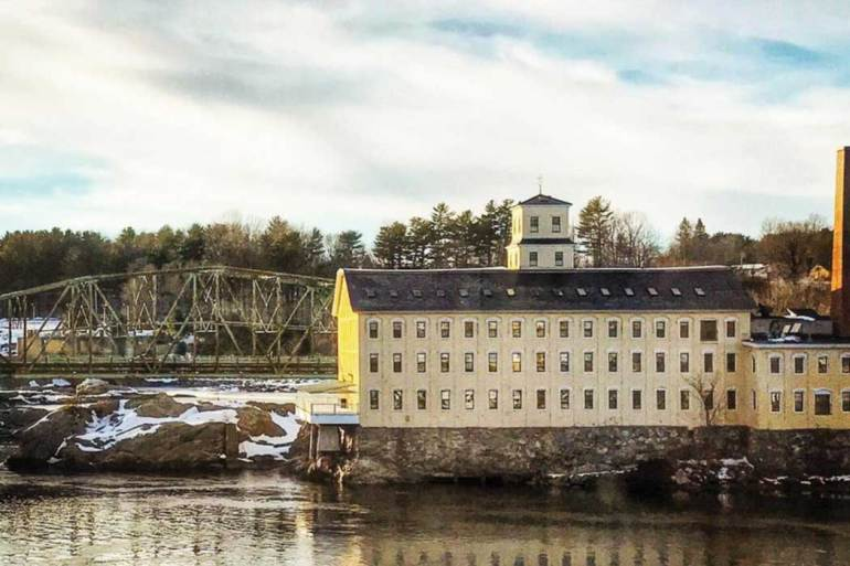Former mill in Topsham by Angus King