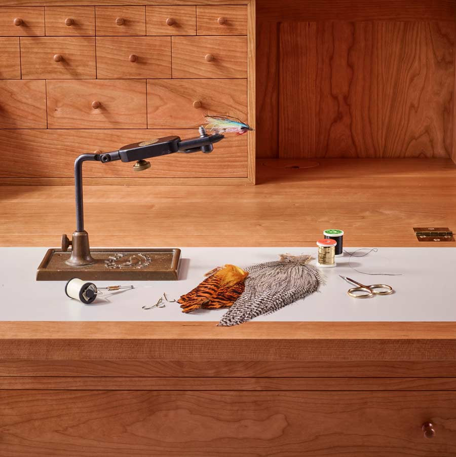 fly-tying desk