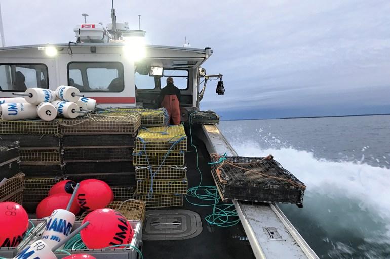 lobster boat in Casco Bay