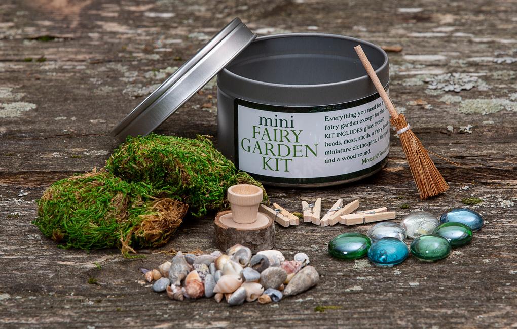 Maine made, Moss and Grove Mini Fairy Garden Kit
