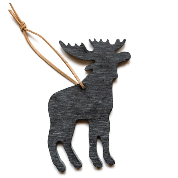 Maine Gifts, Moose Slate Ornament by A&E Stoneworks