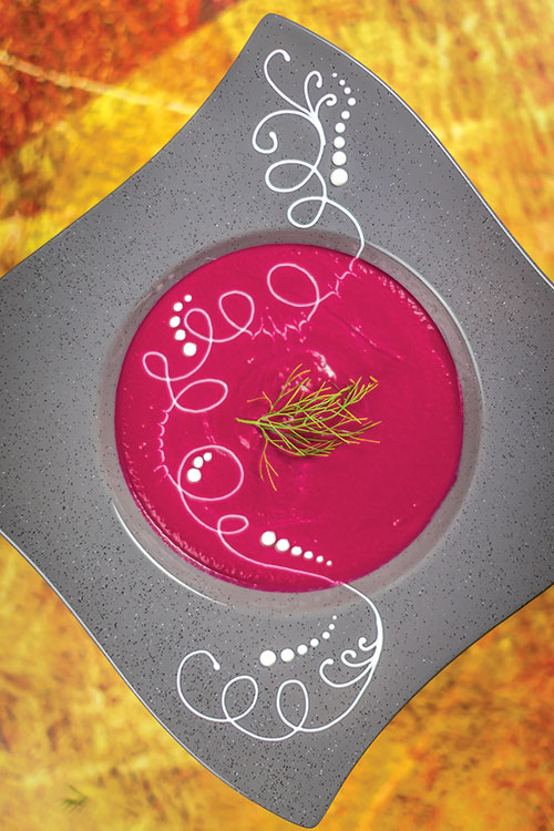 Chilled sweet and sour beet.