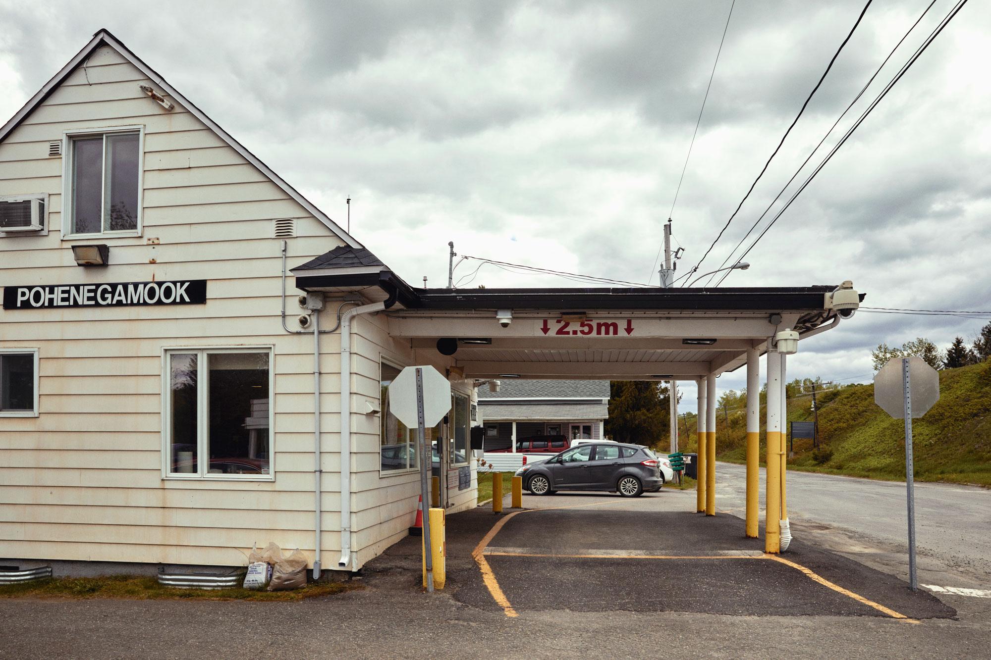 Canadian border station