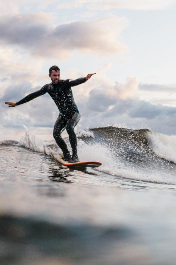 Surfing in Maine