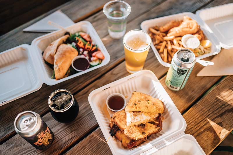 lunch, beers, and fresh air in the Norway Brewing Company beer garden
