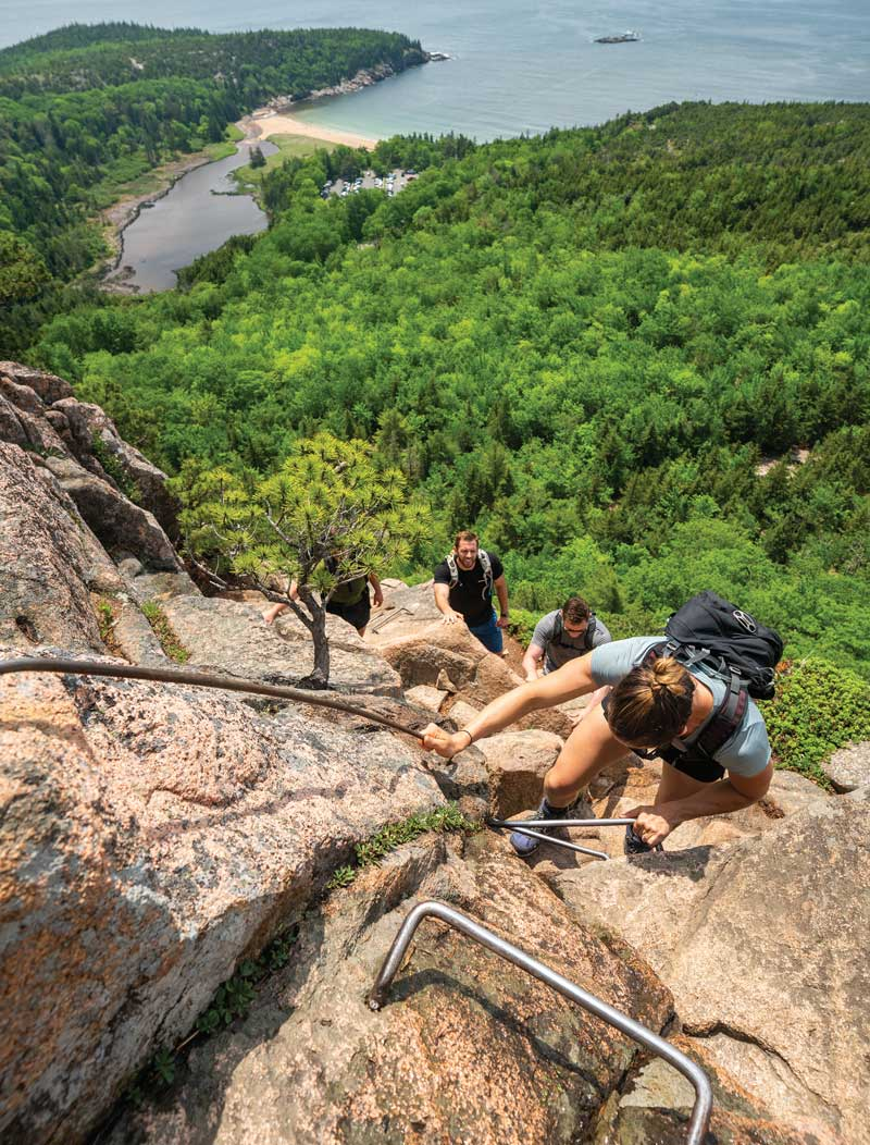 Scenes from the Beehive Trail in Acadia National Park