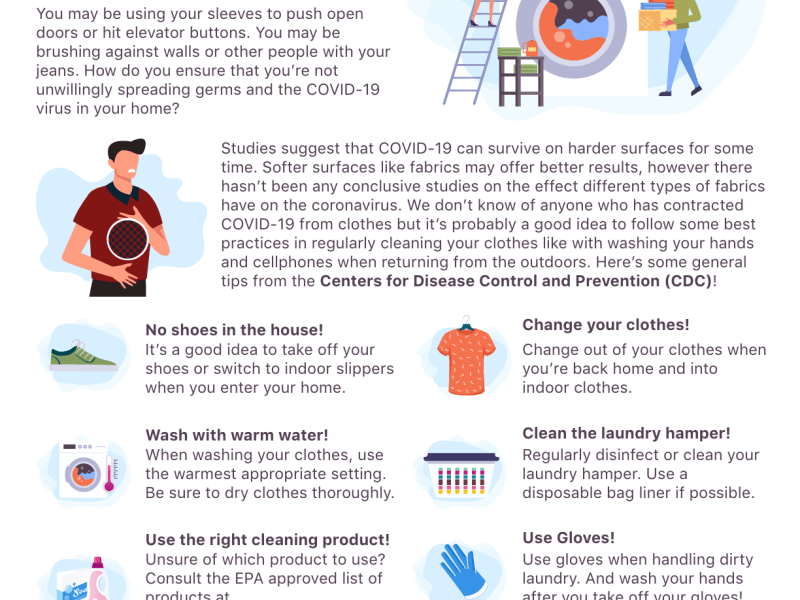 COVID-19 & Your Clothes: Some Tips For Your Health