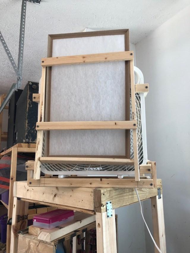Air filtering shop fan