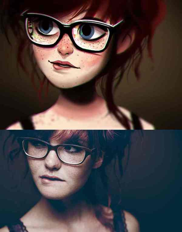 Creative Digital Art Paintings Of Random People Fun