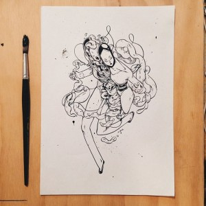 drawing wei quirky illustrations creative idea inspiration wind source behance 99inspiration downs ups