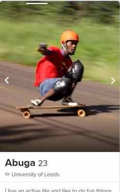 tinder downhill skateboarder