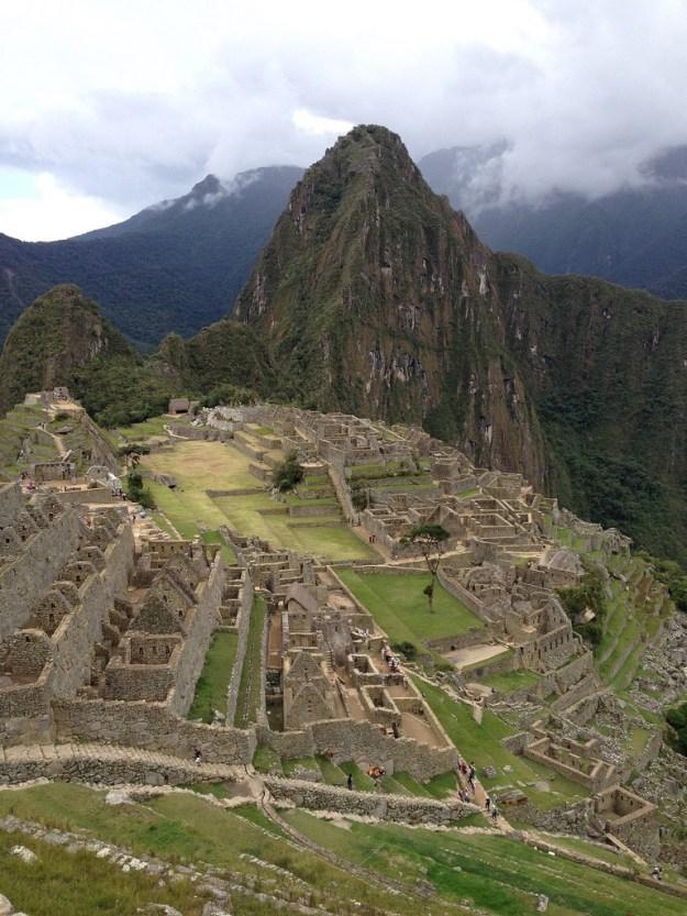 Machu Picchu with Huayna Picchu in the background.