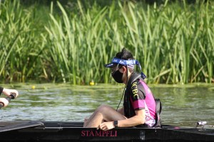 Getting ready with W2 for the June Eights Regatta, 2021
