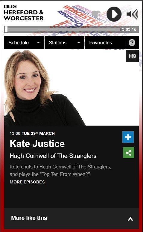 20160329 hugh cornwell bbc radio hereford