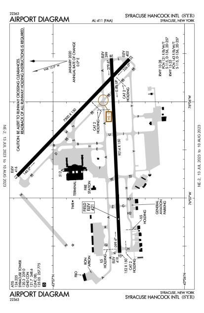 Syracuse Hancock International Airport-KSYR-AOPA Airports