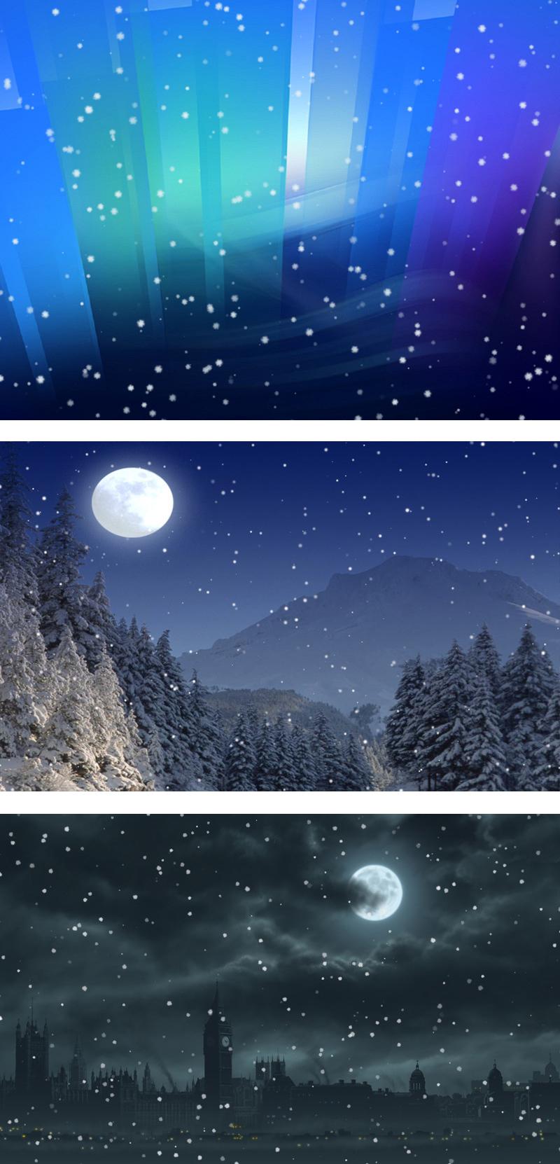 Free Desktop Wallpaper Falling Snow Snow Over Desktop Screensaver Screensaver Software For Pc
