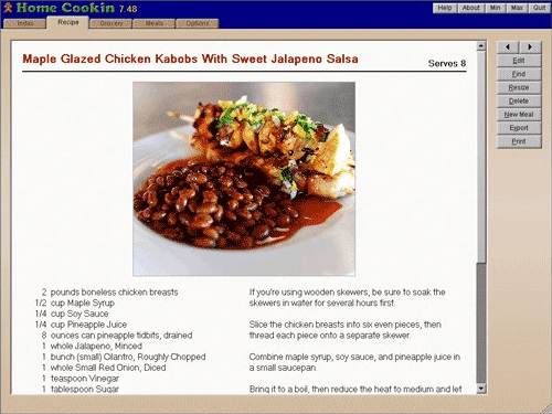 Home Cookin Recipe Software - Food / Cooking Software - 30% PC
