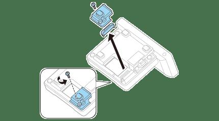 Connecter l'unité réseau local sans fil de l'imprimante