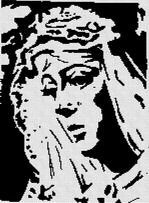 Cross-stitch pattern FREE download as PDF file with Virgin of Macarena