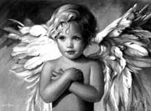 Cross stitch pattern FREE download as PDF file with an angel