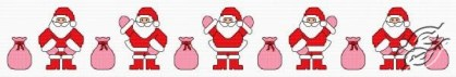 Cross stitch pattern FREE download in PDF file with Santa dancing la macarena