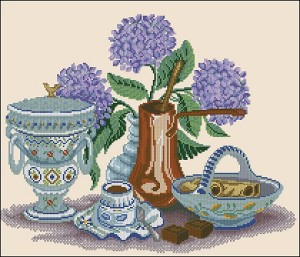 Cross stitch pattern FREE download in PDF file with still life