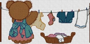 Cross stitch pattern FREE download in PDF file with wash