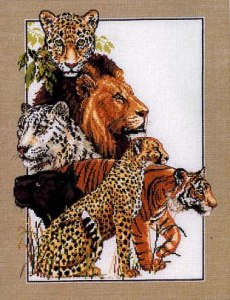 Cross stitch pattern with FREE download instantly in PDF file, to embroider some felines