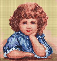 Cross stitch pattern with FREE download instantly in PDF file, to embroider a little angel