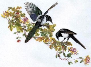 Cross stitch pattern to FREE download instantly in PDF file, with birds