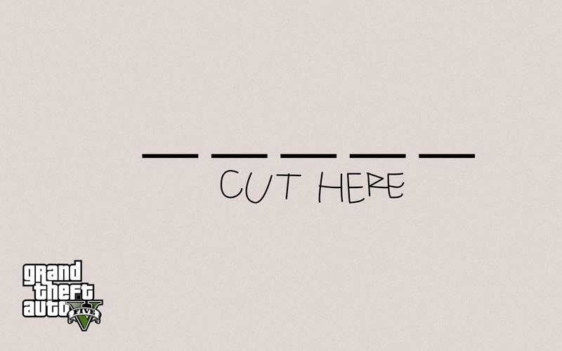 Cut Here Semplice Wallpaper Pack » GTA 5 » Wallpapers non