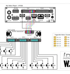 wiring diagram for my video player vp330 connection of 15 push buttons with a ext15 in extension board [ 2246 x 1588 Pixel ]