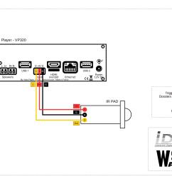 wiring diagram for my video player vp320 connection of a ir pad [ 2246 x 1588 Pixel ]