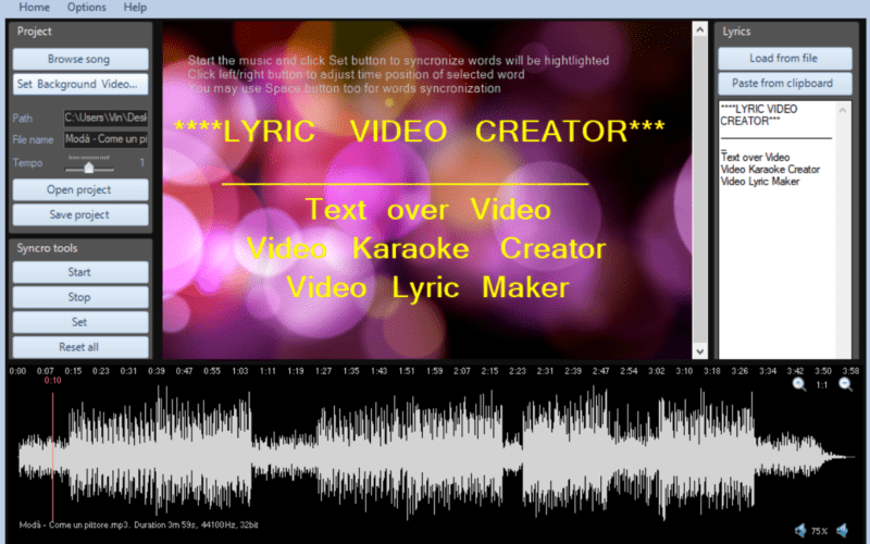 Lyric Video Creator Professional Full Version