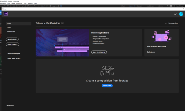 Download Gratis Adobe After Effects 2020 Full Version
