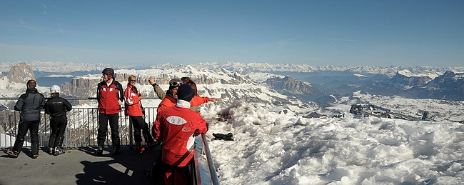 Marmolada ecco il belvedere pi alto delle Dolomiti