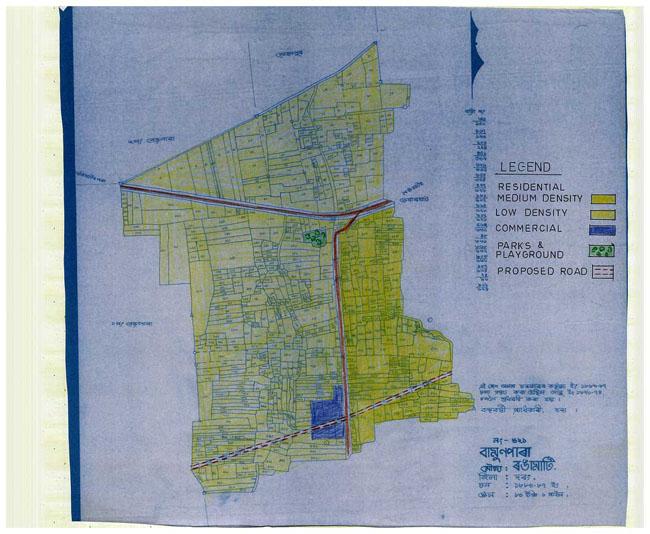 Bamunpara Rangamati Mouza Map