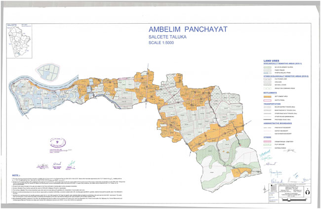 Ambelim Salceette Regional Development Plan Map
