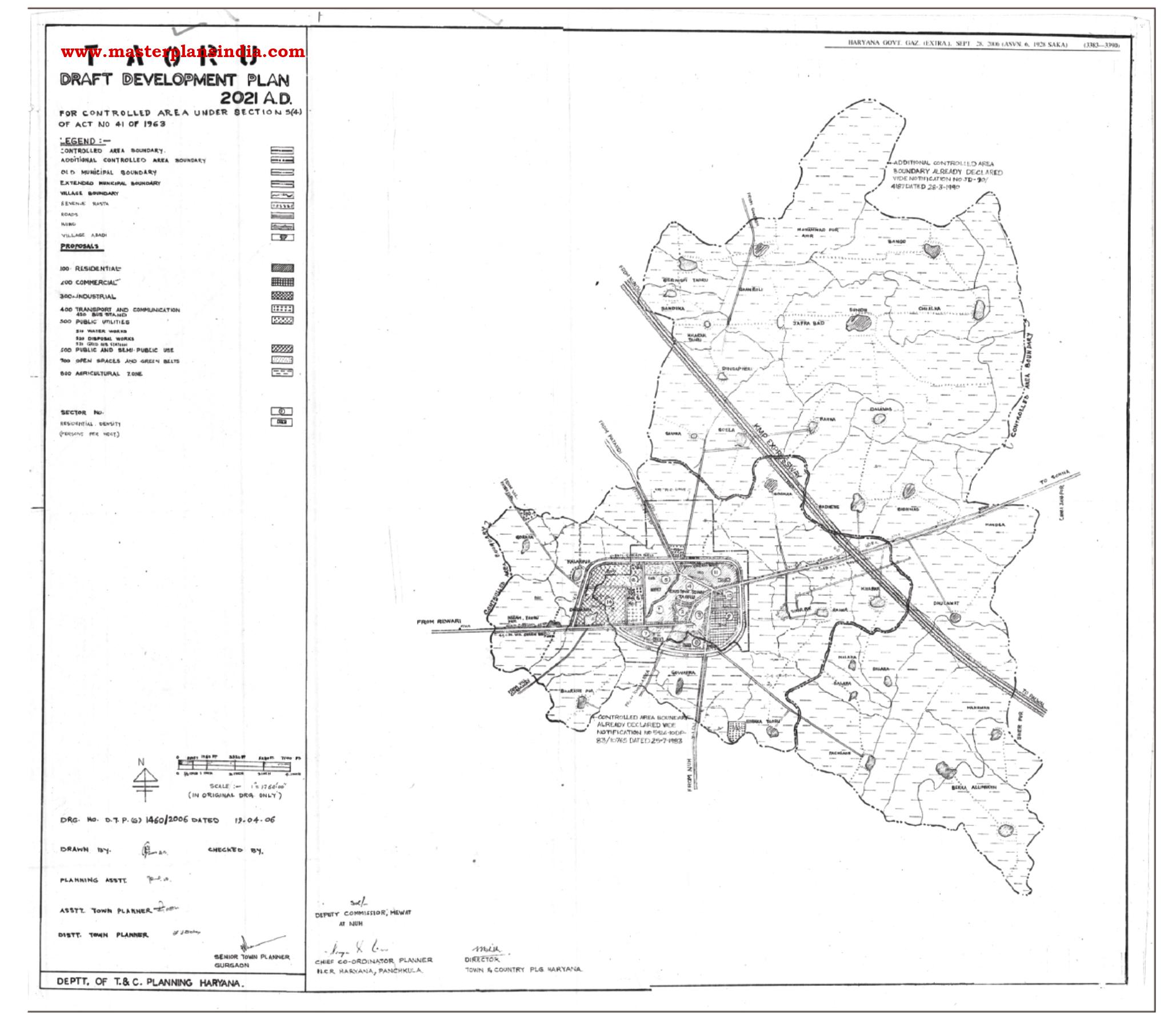 Taoru Master Plan Map Draft Download