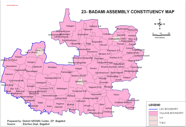 Badami Assembly Constituency Map