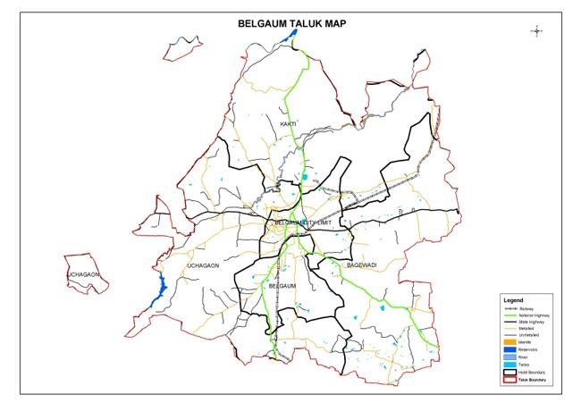 Belgaum Taluk Map