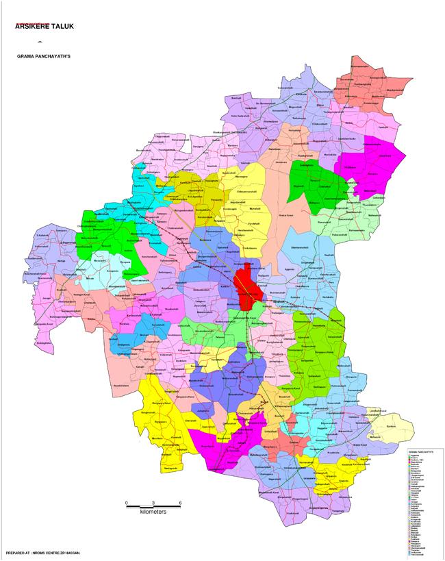 Arsikere Taluk Gramapanchayth Map