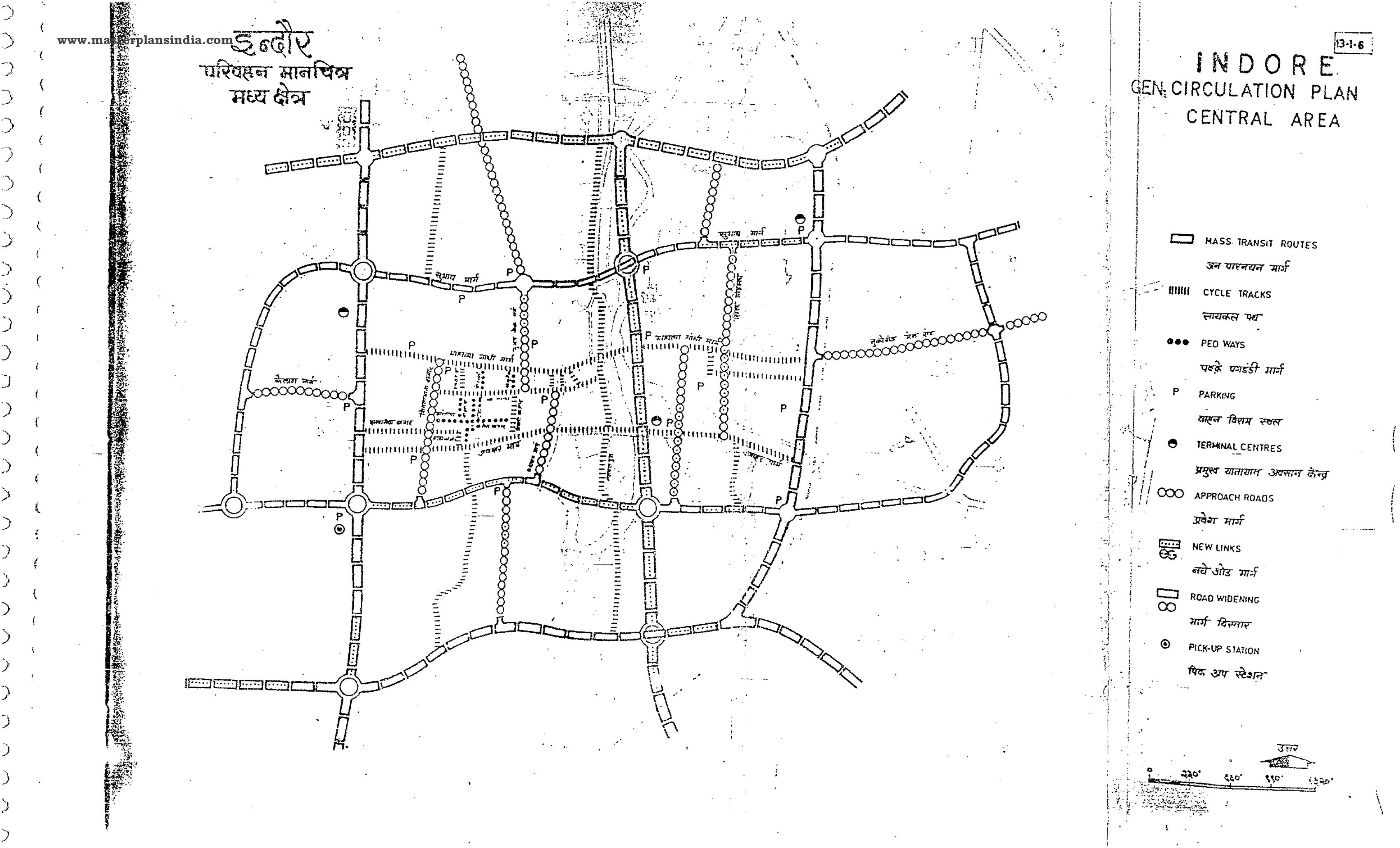 Indore Generalised Circulation Plan Central Area Map PDF