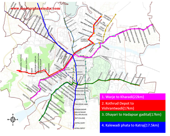 Route Map of Pune BRTS Corridors