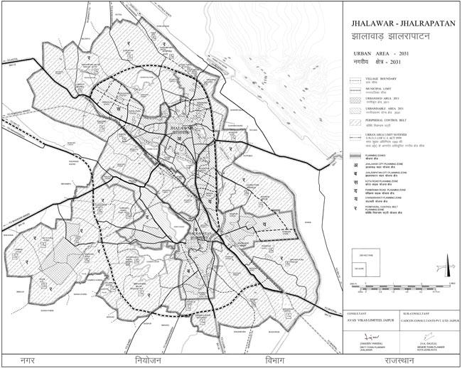 Jhalawar Jhalrapatan Urban Area Map 2031 PDF Download